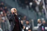 Calcio, Serie A: Juventus - Milan, Turin, Allianz Stadium, November 10, 2019.<br /> Milan's coach Stefano Pioli speaks to his players during the Italian Serie A football match between Juventus and Milan at the Allianz stadium in Turin, November 10, 2019.<br /> UPDATE IMAGES PRESS/Isabella Bonotto