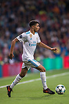 Achraf Hakimi of Real Madrid in action during the UEFA Champions League 2017-18 match between Real Madrid and Tottenham Hotspur FC at Estadio Santiago Bernabeu on 17 October 2017 in Madrid, Spain. Photo by Diego Gonzalez / Power Sport Images