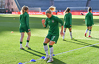 Diane Caldwell (7) of the Irish Republic pictured ahead of a friendly female soccer game between the national teams of Belgium , called the Red Flames and The Republic of Ireland , on sunday 11 th of April 2021  in Brussels , Belgium . PHOTO Dirk Vuylsteke | Sportpix.be | SPP