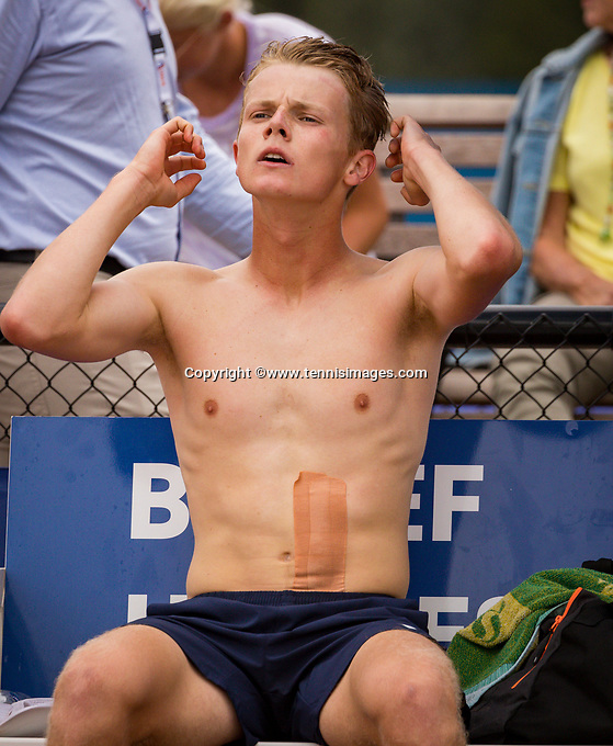 Amstelveen, Netherlands, 1 August 2020, NTC, National Tennis Center, National Tennis Championships, Men's final: Jesper de Jong (NED) <br /> Photo: Henk Koster/tennisimages.com