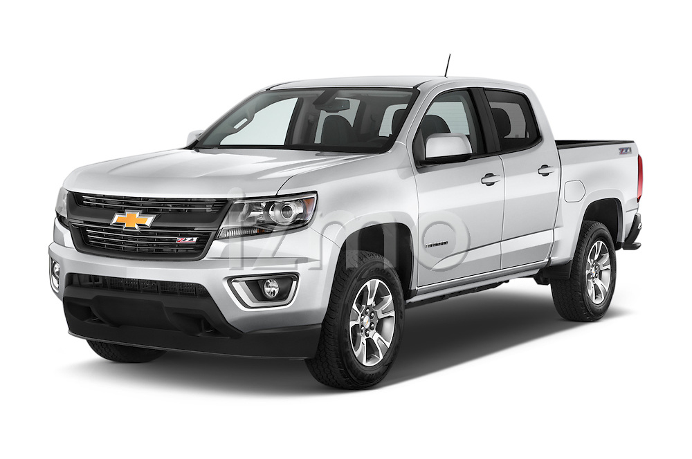2017 Chevrolet Colorado Z71 Crew Cab 4 Door Pick Up Angular Front stock photos of front three quarter view