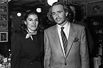 ROSA E ROBERTO POLO<br /> FESTA DELLO STILISTA MIGUEL CRUZ A LA TAMPA MILANO 1987