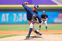 Starting pitcher Elisaul Pimentel #25 of the Wilmington Blue Rocks in action against the Winston-Salem Dash at BB&T Ballpark on April 24, 2011 in Winston-Salem, North Carolina.   Photo by Brian Westerholt / Four Seam Images