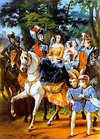 Carousel of Tsarskoe Selo (1842) by Emile Jean Horace Vernet (1789 - 1863).