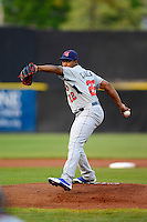 Tennessee Smokies pitcher Alberto Cabrera #22 during a game against the Huntsville Stars on April 16, 2013 at Joe W Davis Municipal Stadium in Huntsville, Alabama.  Tennessee defeated Huntsville 4-3.  (Mike Janes/Four Seam Images)