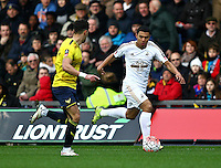 Jefferson Montero of Swansea   during the Emirates FA Cup 3rd Round between Oxford United v Swansea     played at Kassam Stadium  on 10th January 2016 in Oxford