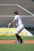 Surprise Saguaros Connor Joe (6), of the Pittsburgh Pirates organization, during a game against the Peoria Javelinas on October 20, 2016 at Surprise Stadium in Surprise, Arizona.  Peoria defeated Surprise 6-4.  (Mike Janes/Four Seam Images)
