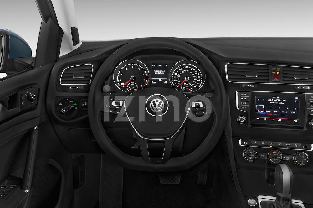Car pictures of steering wheel view of a 2015 Volkswagen Golf SEL 4-door TSI  Auto PZEV 4 Door Hatchback Steering Wheel