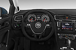 Car pictures of steering wheel view of a 2015 Volkswagen Golf SEL 4-door TSI  Auto PZEV 4 Door Hatchback Steering Wheel