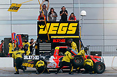 NASCAR Camping World Truck Series<br /> Las Vegas 350<br /> Las Vegas Motor Speedway, Las Vegas, NV USA<br /> Saturday 30 September 2017<br /> Cody Coughlin, Ride TV/ Jegs Toyota Tundra pit stop<br /> World Copyright: Russell LaBounty<br /> LAT Images