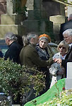The funeral of the late music manager and punk pioneer Malcolm McLaren in London this afternoon. Ben and Vivienne Westood..