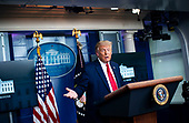 United States President Donald J. Trump speaks during a news conference in the Brady Press Briefing Room of the White House in Washington, DC on Wednesday, September 16, 2020. <br /> Credit: Al Drago / Pool via CNP