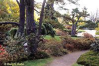 AC34-014a  Flower garden - Japanese style garden