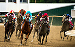 September 22, 2018 : Midnight Bisou, ridden by jockey Mike Smith [red cap], wins the Cotillion Stakes after a disqualification of Monomoy Girl on Pennsylvania Derby Day at Parx Casino and Racecourse on September 22, 2018 in Bensalem, Pennsylvania. [Dan Heary/Eclipse Sportswire/CSM]