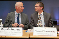 """**** NO FEE PIC***.12/04/2012 .(L to r).Ray McAndrew Chair of the Commission for the Support of Victims of Crime.Dr. Shane Kilcommins UCC.during a conference on the """"The EU Directive on Victims Rights: Opportunities and Challenges for Ireland"""" hosted by the the Irish Council for Civil Liberties (ICCL) in Dublin Castle..Photo: Gareth Chaney Collins"""