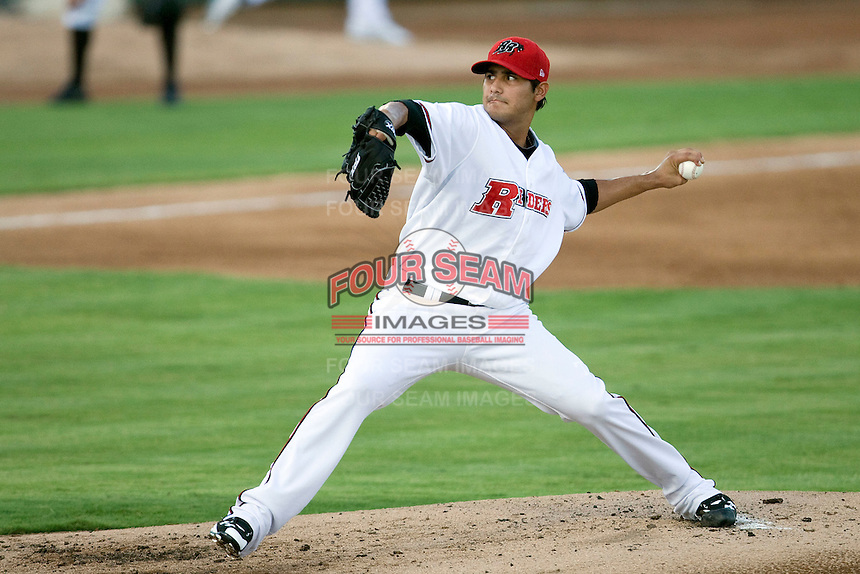 Frisco Roughriders pitcher Martin Perez #45 delivers during the Texas League All Star Game played on June 29, 2011 at Nelson Wolff Stadium in San Antonio, Texas. The South All Star team defeated the North All Star team 3-2. (Andrew Woolley / Four Seam Images)