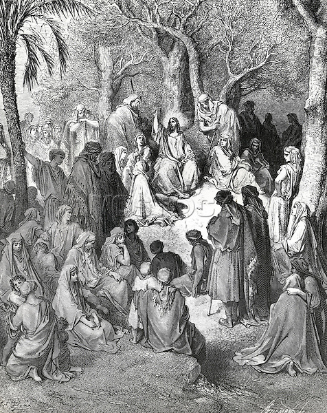Sermon on the Mount Gustave Dore (1832-1883 French) Print