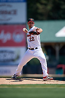 Rochester Red Wings pitcher Chase De Jong (22) during an International League game against the Scranton/Wilkes-Barre RailRiders on June 25, 2019 at Frontier Field in Rochester, New York.  Rochester defeated Scranton 10-9.  (Mike Janes/Four Seam Images)