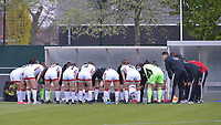OHL team in a huddle before a female soccer game between  AA Gent Ladies and Oud Heverlee Leuven on the fourth matchday of play off 1 in the 2020 - 2021 season of Belgian Scooore Womens Super League , saturday 1 st of May 2021  in Oostakker , Belgium . PHOTO SPORTPIX.BE | SPP | STIJN AUDOOREN