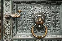 Cologne Cathedral door knocker, Cologne, Germany, Europe