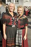 Two Faroese girls in native dress, St. Olav Festival, Torshavn, Faroe Islands