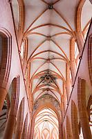 Europe/Allemagne/Bade-Würrtemberg/Heidelberg: détail voute de la nef de l'église du Saint-Esprit
