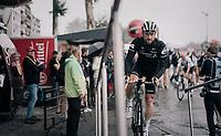 sign-on podium for Bernhard 'Bernie' Eisel (AUT/Dimension Data)<br /> <br /> 104th Tour de France 2017<br /> Stage 12 - Pau › Peyragudes (214km)