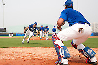 17 August 2007: Edouard Masse practices during the Good Luck Beijing International baseball tournament (olympic test event) at the Wukesong Baseball Field in Beijing, China.