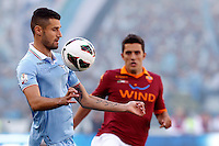 Calcio, finale di Coppa Italia: Roma vs Lazio. Roma, stadio Olimpico, 26 maggio 2013..Lazio midfielder Antonio Candreva controls the ball during the Italian Cup football final match between AS Roma and Lazio at Rome's Olympic stadium, 26 May 2013..UPDATE IMAGES PRESS/Isabella Bonotto....