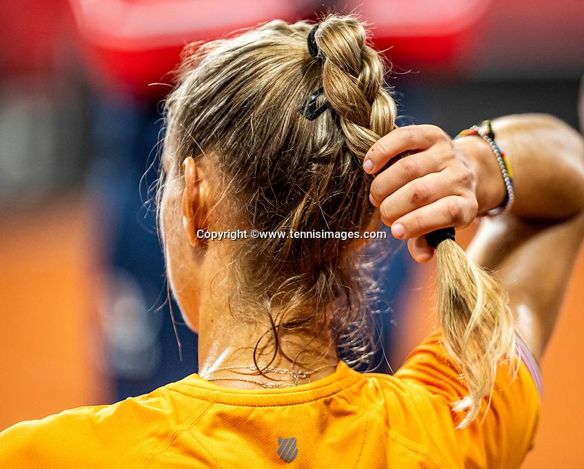 The Hague, The Netherlands, Februari 4, 2020,  Sportcampus , FedCup  Netherlands - Balarus, Dutch team practise, Arantxa Rus.<br /> Photo: Tennisimages/Henk Koster