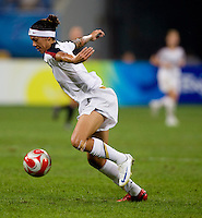 Natasha Kai. The USWNT defeated New Zealand, 4-0, during the 2008 Beijing Olympics in Shenyang, China.  With the win, the USWNT won group G and advanced to the semifinals.