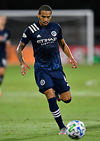 LAKE BUENA VISTA, FL - JULY 26: Alexander Callens of New York City FC during a game between New York City FC and Toronto FC at ESPN Wide World of Sports on July 26, 2020 in Lake Buena Vista, Florida.