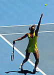 Januaary 26, 2010.Venus Williams of the USA, in action during her 2-6, 7-6, 7-5 loss to China's Li Na in the quarter final of The Australian Open, Melbourne Park, Melbourne,Australia