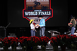 Avery Ledesma during the Break Away and Tie Down Roping Back Number presentation at the Junior World Finals. Photo by Andy Watson. Written permission must be obtained to use this photo in any manner.