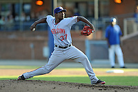 Hagerstown Suns starting pitcher Ivan Pineyro #37 delivers a pitch during a game against the Asheville Tourists at McCormick Field on May 28, 2013 in Asheville, North Carolina. The Tourists won the game 9-4. (Tony Farlow/Four Seam Images)