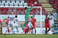 Lawrence Vigouroux of Leyton Orient makes a save during Leyton Orient vs Forest Green Rovers, Sky Bet EFL League 2 Football at The Breyer Group Stadium on 23rd January 2021