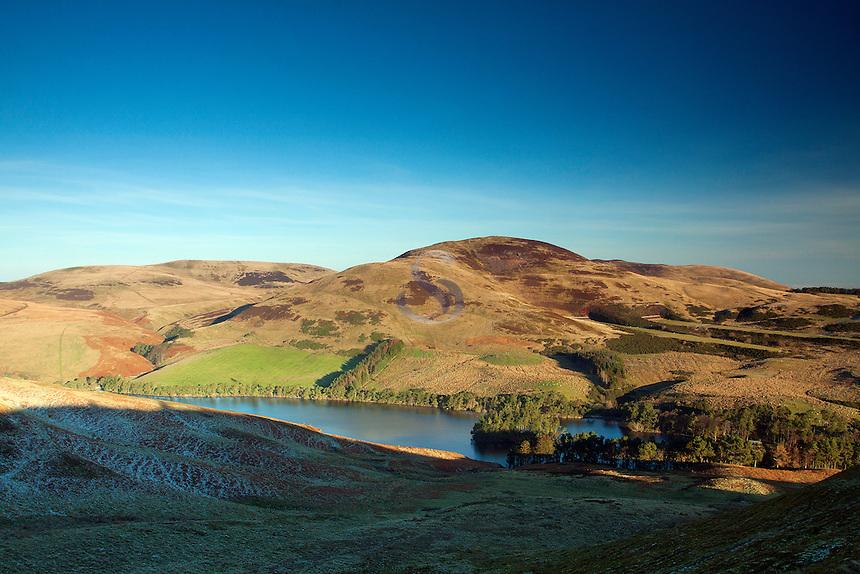 Glencorse Reservoir and Castle Hill from Turnhouse Hill, The Pentland Hills Regional Park, Lothian