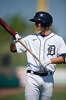 Detroit Tigers Andre Lipcius (41) bats during a Florida Instructional League intrasquad game on October 17, 2020 at Joker Marchant Stadium in Lakeland, Florida.  (Mike Janes/Four Seam Images)