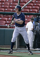 September 15, 2004:  Pete Orr of the Richmond Braves, Triple-A International League affiliate of the Atlanta Braves, during a game at Dunn Tire Park in Buffalo, NY.  Photo by:  Mike Janes/Four Seam Images