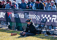 Oct 4, 2020; Madison, Illinois, USA; Austin Blair operates a drone during the NHRA Midwest Nationals at World Wide Technology Raceway. Mandatory Credit: Mark J. Rebilas-USA TODAY Sports