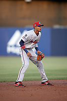 Fort Myers Miracle shortstop Nelson Molina (23) during a game against the Tampa Yankees on April 12, 2017 at George M. Steinbrenner Field in Tampa, Florida.  Tampa defeated Fort Myers 3-2.  (Mike Janes/Four Seam Images)