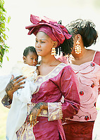 Guests of a wedding in Bamako, Mali