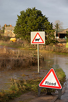 28-1-2021 A farm and surrounding fields flooded in the village of Creeton in Lincolnshire after the River Glen breeched it's banks<br /> ©Tim Scrivener Photographer 07850 303986<br />      ....Covering Agriculture In The UK....