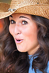 Portrait of a young girl in cowboy hat from the Calgary Stampede, Calgary, Alberta Canada