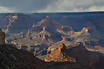 Stormy weather over the Grand Canyon, northern Arizona. .  John offers private photo tours in Grand Canyon National Park and throughout Arizona, Utah and Colorado. Year-round.