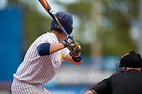 Michigan Wolverines catcher Harrison Salter (11) at bat during a game against Army West Point on February 18, 2018 at Tradition Field in St. Lucie, Florida.  Michigan defeated Army 7-3.  (Mike Janes/Four Seam Images)