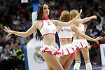 Real Madrid's cheerleaders during Liga Endesa ACB match.March 29,2015. (ALTERPHOTOS/Acero)