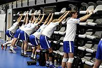 GRONINGEN - Volleybal, Eerste training Amysoft Lycurgus , seizoen 2021-2022, 17-08-2021,  warming up