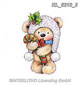 CHRISTMAS ANIMALS, WEIHNACHTEN TIERE, NAVIDAD ANIMALES, paintings+++++,KL6210/3,#xa# ,sticker,stickers