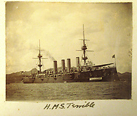 BNPS.co.uk (01202) 558833<br /> Pic: Charles Miller/BNPS<br /> <br /> The unfortunately named HMS Terrible<br /> <br /> A fascinating photo album compiled by a British naval officer on tour in the Far East at the turn of the 20th century has come to light.<br /> <br /> Taprell Dorling served on the HMS Terrible in 1900 at the start of an over 30 year career at sea.<br /> <br /> The album, containing 74 photos, has emerged for sale with auctioneers Charles Miller, of London, with an estimate of £3,000.